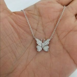 925 Sterling Silver Cz Stones 🦋 Necklace